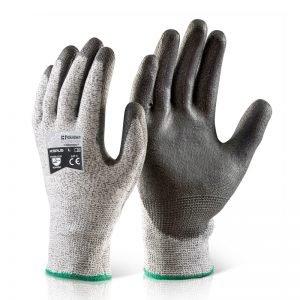 PU coated cut 5 glove