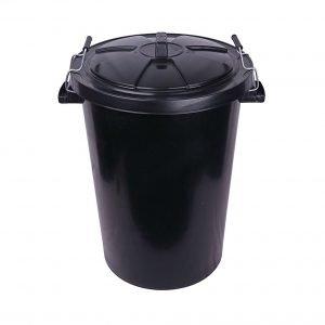 Black Plastic Bin 90 litre