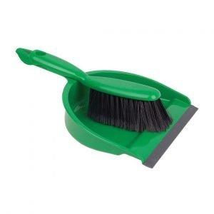 Green Dust pan & brush set