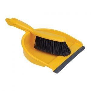 Yellow Dust pan & brush set