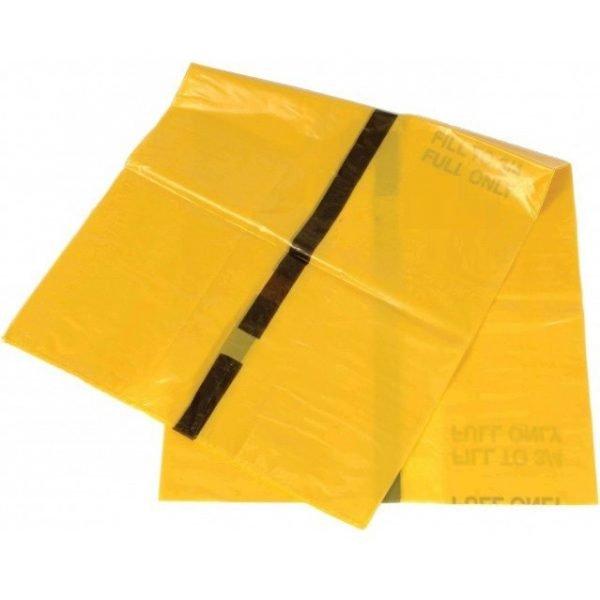 Tiger folded hazardous waste bag